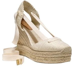 Coach Fern Cream Espadrille Wedges